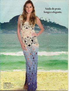 muçambê artesanato: Saída de Praia Longa em Crochê....Maravilhosa!!!