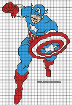 Súper Hero cross stitch 5-17