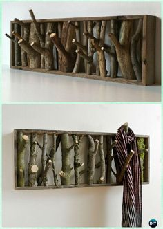 Logs and Stumps DIY Ideas Projects & Furniture Instructions Less waste. DIY Tree Branch Coat Rack Instructions - Raw Wood Logs and Stumps DIY Ideas ProjectsLess waste. DIY Tree Branch Coat Rack Instructions - Raw Wood Logs and Stumps DIY Ideas Projects Log Decor, Diy Home Decor, Rustic Decor, Wood Home Decor, Rustic Theme, Rustic Chic, Teds Woodworking, Woodworking Projects, Woodworking Furniture