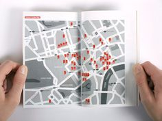 Guide book for the London Design Festival 2008 in collaboration with Beatrice Blumenthal at Pentagram, London. London Design Festival, Guide Book, Passport, Editorial, Graphics, Map, City, Illustration, Books