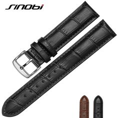 >> Click to Buy << 20 mm 22mm  for sinobi Durable One Sweatband Watch Men cowhide Leather Strap Watchband Steel Buckle Wrist Women Watches Bands #Affiliate