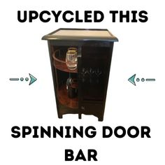 I upcycled this spinning bar . Watch the video to see how much profit I made . Upcycled Home Decor, Upcycled Furniture, Furniture Projects, Wood Furniture, Wood Projects, Spin Bar, Wood Crafts, Fun Crafts, Diy For Kids