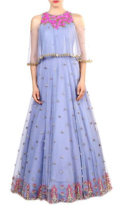 Shop Papa Don't Preach Lilac embroidered gown , Exclusive Indian Designer Latest Collections Available at Aza Fashions Pakistani Gowns, Indian Gowns, Indian Outfits, Indian Wear, Saree Blouse Patterns, Saree Blouse Designs, Party Wear Gowns Online, New Lehenga, Punjabi Fashion