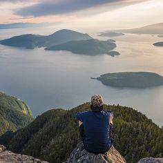 The amazing view from St. Mark's Summit overlooking Howe Sound, just north of #Vancouver.   (photo: @braedin via Instagram)  #exploreBC #explorecanada