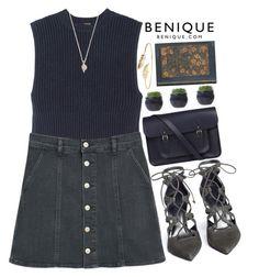"""Benique"" by mihreta-m ❤ liked on Polyvore featuring ADAM, MANGO, Stuart Weitzman, The Cambridge Satchel Company, Meadowlark and benique"