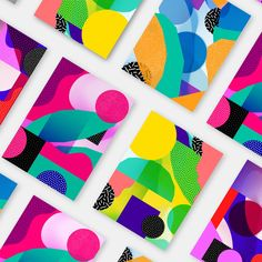 Design Patterns 2018 - Mindsparkle Mag - Beautiful patterns used for packaging, branding and digital applications, designed by Atelier Irradié in Paris. Shape Design, Pattern Design, Design Art, Flat Design, Icon Design, Geometric Poster, Geometric Shapes, Geometric Graphic Design, Creative Studio