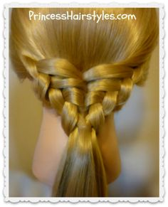 Waffle Cone Ponytail #Hairstyle Tutorial Love this so pretty and easy, just ponytails not braids
