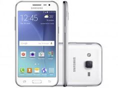 "Smartphone Samsung Galaxy J2 TV Duos 8GB Branco - Dual Chip 4G Câm. 5MP Tela 4.7"" qHD Quad Core"