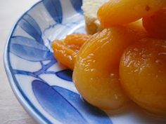 wine poached apricots