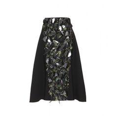 Marni Embellished Wool and Silk Skirt