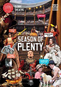 Globe Theatre 2013 season brochure: Season of Plenty