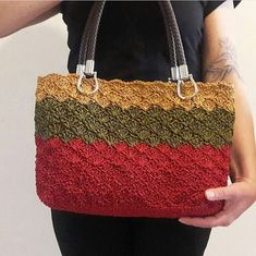 Would you like to enter the summer season with a unique crochet bag model that no one else has? If your answer is yes you should definitely look at these handmade knitted bags! Crochet Purse Patterns, Crochet Tote, Crochet Handbags, Crochet Purses, Bag Patterns, Crochet Shawl, Free Crochet, Crochet Hairband, Crochet Beanie