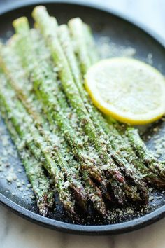 Quick, fresh, and easy Lemon Parmesan Asparagus recipe from Damn Delicious