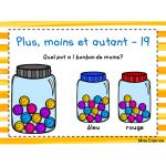 Plus, moins et autant - 1re année Grande Section, Learning Activities, Teaching, Bottle, Kids, Cycle 1, Ps3, French, Names