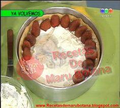 Recetas de Maru Botana: Tarta de Frutillas con Dulce De Leche Receta de Maru Botana