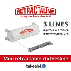 The @retractaline mini #retractable #clothesline is strong #durable and ideal for a #courtyard or small outdoor space. Grab yours today at the @TAKEALOT. Click below for more.