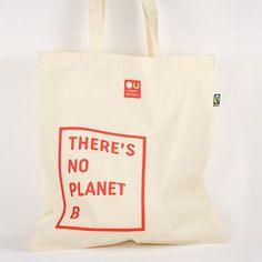 """Der Original Unverpackt Beutel mit dem Spruch """"There's No Planet B"""" transportiert zusätzlich zu deinen Einkäufen auch einen Gedanken: Achte auf deinen..."""