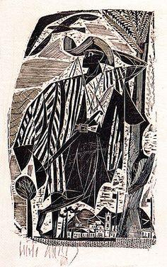 1954 | Lívio Abramo, 'Festa' xilogravura, c.i.e., 20/50 23.00 x 13.40 cm