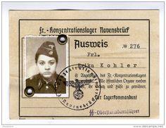 卐 - Erika Kohler Ravensbruck Gaurd -  #> https://de.pinterest.com/rodsangala/ww-ii-identification-papers/