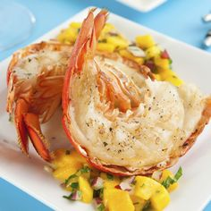 A Delicious recipe for grilled lobster tails, These are great served with a fresh salad and lemon wedges.. Grilled Lobster Tails Recipe from Grandmothers Kitchen.