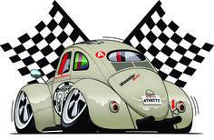 VW Sport Car Cartoon