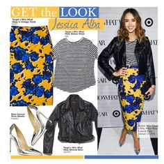 """Get The Look-  Jessica Alba in Target x Who What Wear Outfit"" by kusja ❤ liked on Polyvore featuring Who What Wear, women's clothing, women, female, woman, misses, juniors, GetTheLook, celebstyle and jessicaalba"