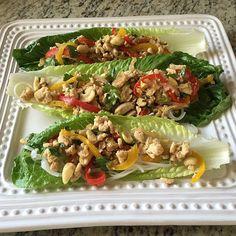 Spicy Turkey Lettuce Wraps I ❤ Food Network Magazine @iheartfoodnetmag Instagram photos | Websta
