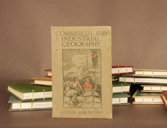 Commercial and Industrial Geography Coptic Bound Notebook Sketchbook Journal Scrapbook. $28.00, via Etsy.