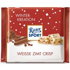 Ritter Sport Winter-Kreation Weiße Zimt Crisp | Online kaufen im World of Sweets Shop