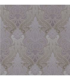 Aquitaine Purple Nouveau Damask  Wallpaper