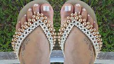 chinelos decorados passo a passo - YouTube