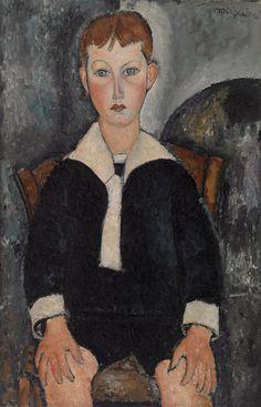 Boy in Sailor Suit, Amedeo Modigliani, 1917.