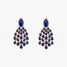AURELIE BIDERMANN Boucles d'oreilles Cherokee Lapis Lazuli #Look #LeBonMarche #VuAuBonMarche #ilNeigeRiveGauche #Look #Cadeau #Gift #Fashion #Christmas