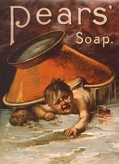 """Is this supposed to be in reference to the old """"baby with the bathwater"""" adage?  Or some odd form of waterboarding?  #creepy #vintage #ad"""