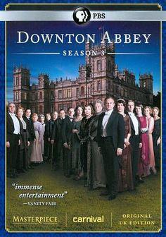 downton abbey  series three  3-disc set  season 3  free shipping
