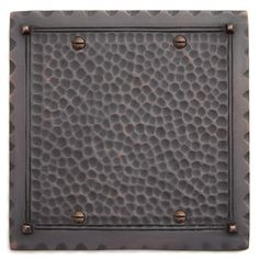 Hammered Solid Brass Double Blank Plate - Oil Rubbed Bronze
