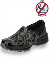 Akesso Helia Slip-On Flower Black with Patent Leather Shoe $99.99