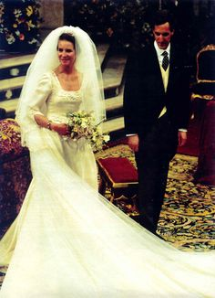 Infanta Elena of Spain and Don Jaime de Marichalar y Sáenz de Tejada wedding on 17 Mar 1995