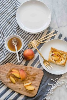 Today I'm sharing a yummy peach and goat cheese tarts recipe. Fun Easy Recipes, Summer Recipes, Easy Meals, Puff Pastry Recipes, Tart Recipes, Cheese Tarts, Goat Cheese, Atlanta Food, Frozen Puff Pastry
