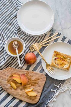 Today I'm sharing a yummy peach and goat cheese tarts recipe. Puff Pastry Recipes, Tart Recipes, Cheese Tarts, Goat Cheese, Fun Easy Recipes, Summer Recipes, Atlanta Food, Berry Tart, Frozen Puff Pastry