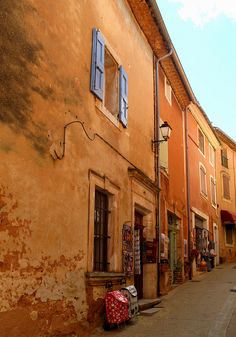Street in Roussillon, Provence