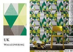 【Deco Inn】E153— Axis,歐洲英國期貨壁紙,優美氣質 幾何三角拼接色塊,4色