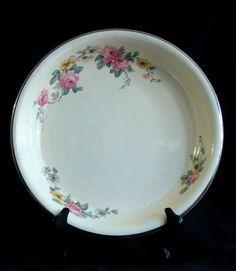 Vintage Homer Laughlin Virginia Rose ARMAND Oven Serve Pie Plate/Baking Dish  #HomerLaughlin