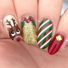 746 Best Christmas Nail Art Images Christmas Manicure Make Up