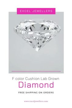 VS2 F color Cushion Lab Grown Diamond. #diamond #diamondstone #jewelryoutfits #diamondshape #loosestones