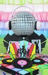 Fiesta Disco. Torta esfera.