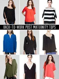 9 tops that make pumping access easy and discrete when you go back to work after you have a baby.