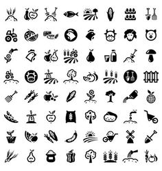 Big agriculture icons set vector 1176315 - by Chistoprudnaya on VectorStock®