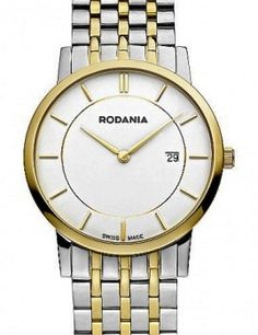 Rodania extra slim Bi-color chic elios with sapphire glass, white dial and 5 atm waterproof for Popular Watches, Gold Watch, Sapphire, Slim, Glass, Accessories, Color, Drinkware, Corning Glass