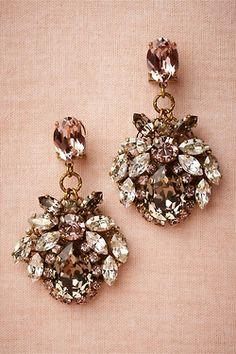 Bridal earrings.